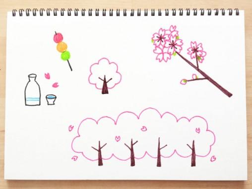 桜のイラストの描き方