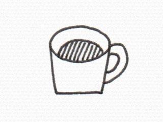 コーヒーカップのイラスト1