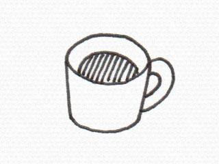コーヒーカップのイラスト2