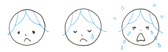 悲しみ 表情 バリエーション