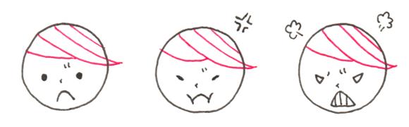 怒り 表情 バリエーション