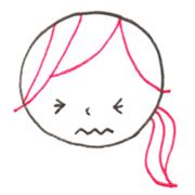 苦い 表情