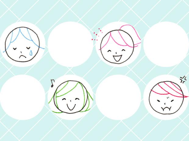 シンプルな表情の描き方
