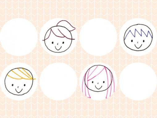 シンプルな顔の描き方