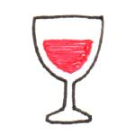 ワイングラス 平面