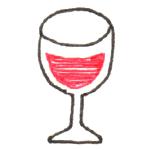 ワイングラス くずし立体