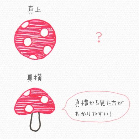 平面イラスト キノコ
