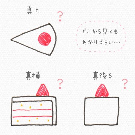 平面イラスト いちごのショートケーキ