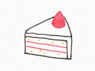 立体イラスト 三角ケーキ